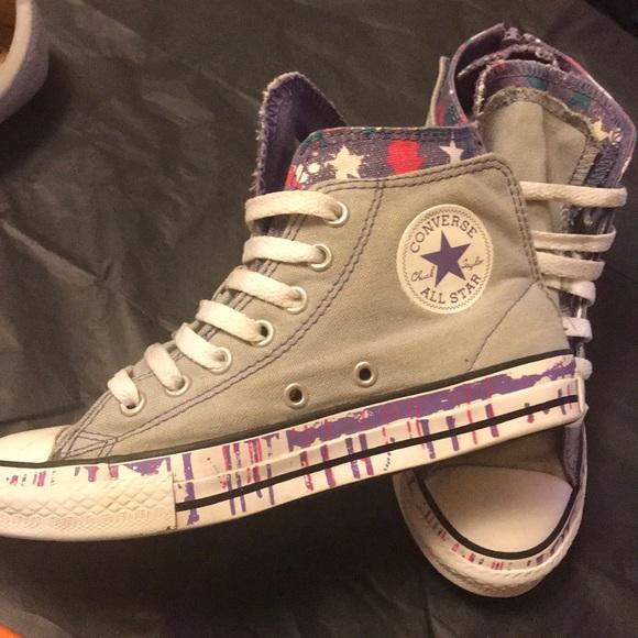 c9b8f78fb533 Converse Other - (2) Girls Star splatter converse all star